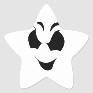 Halloween Ghost Face Star Sticker