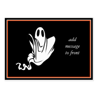 Halloween Ghost Floating Your Way! Large Business Cards (Pack Of 100)