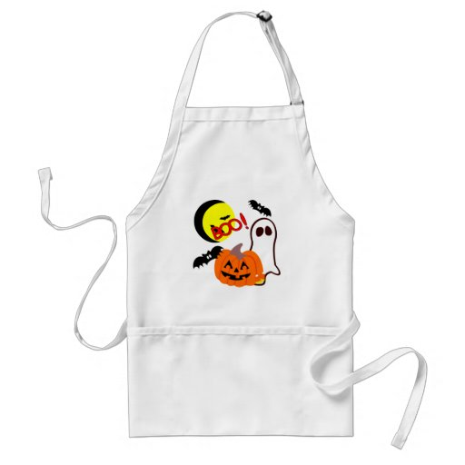 Halloween Ghost Friends Adult Apron