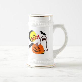 Halloween Ghost Friends Beer Stein