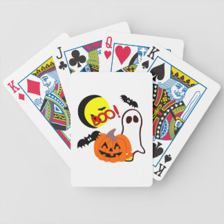Halloween Ghost Friends Bicycle Playing Cards