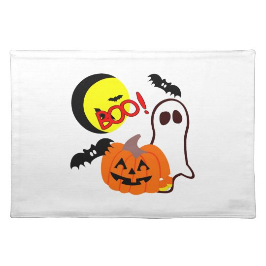 Halloween Ghost Friends Cloth Placemat