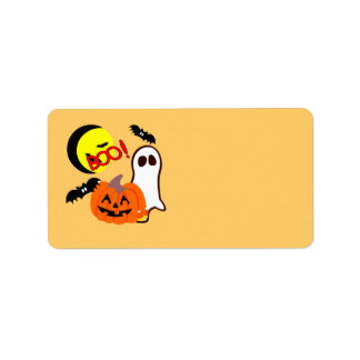 Halloween Ghost Friends Label