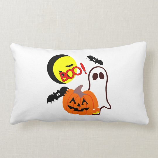 Halloween Ghost Friends Lumbar Pillow