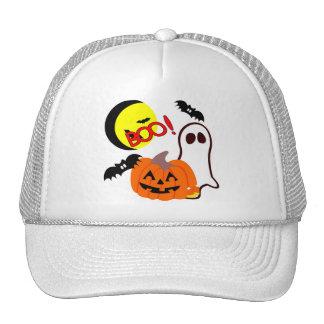 Halloween Ghost Friends Mesh Hats