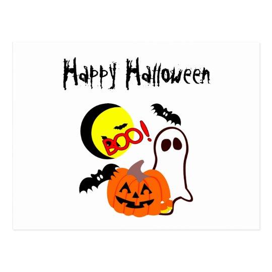 Halloween Ghost Friends Postcard