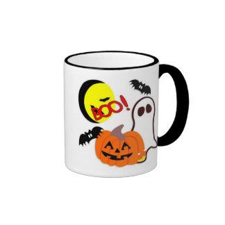 Halloween Ghost Friends Ringer Mug