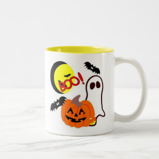 Halloween Ghost Friends Two-Tone Coffee Mug