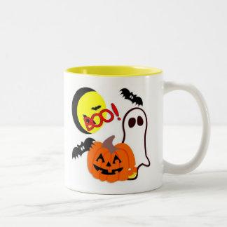 Halloween Ghost Friends Two-Tone Coffee Mug