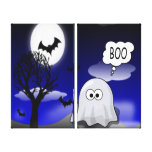 Halloween Ghost Gallery Wrapped Canvas