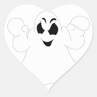 Halloween Ghost Heart Sticker