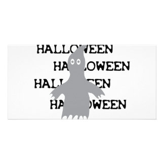 halloween ghost icon card