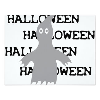 halloween ghost icon personalized invitation