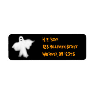 Halloween Ghost Label Return Address Label