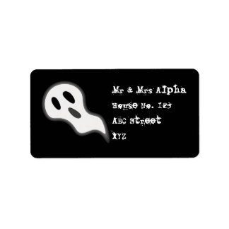 Halloween Ghost Label