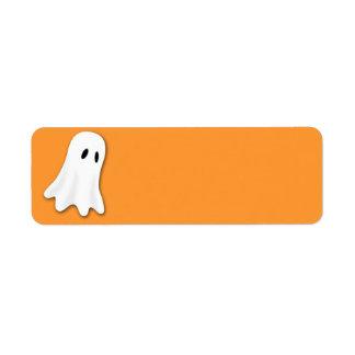 Halloween Ghost Return Address Label