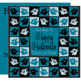 Halloween ghost mosaic invitation