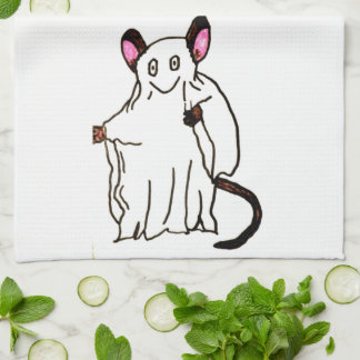 HALLOWEEN GHOST MOUSE kitchen towel