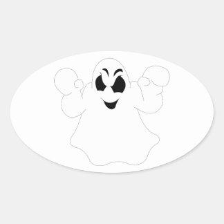 Halloween Ghost Oval Sticker