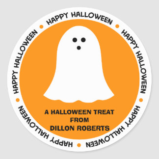 Halloween Ghost Party Favor Classic Round Sticker