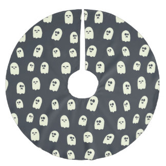 Halloween Ghost Pattern Brushed Polyester Tree Skirt
