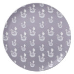 Halloween Ghost Pattern Party Plate