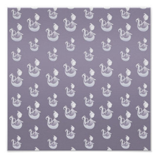 Halloween Ghost Pattern Poster