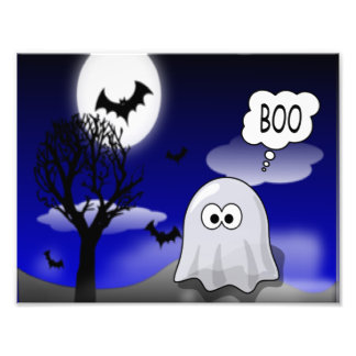 Halloween Ghost Photo Print