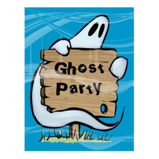 Halloween ghost post card