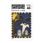 Halloween Ghost R.I.P. Postage Stamp