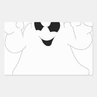 Halloween Ghost Rectangular Sticker