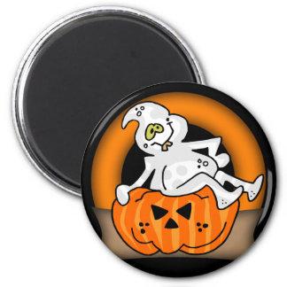 Halloween Ghost Round Magnet