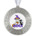 Halloween Ghost Round Ornament