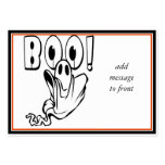 "Halloween Ghost says ""BOO!"" Business Card Templates"
