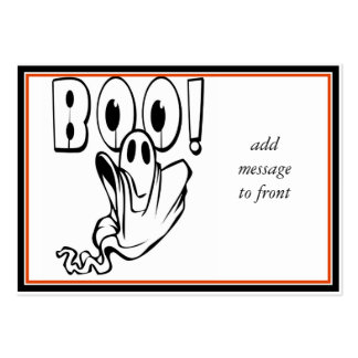 """Halloween Ghost says """"BOO!"""" Large Business Cards (Pack Of 100)"""