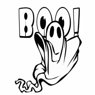 """Halloween Ghost says """"BOO!"""" Statuette"""