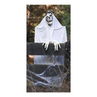 Halloween Ghost Skull - Photo Card
