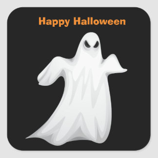 Halloween Ghost Square Sticker