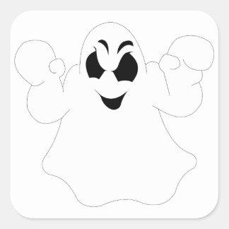 Halloween Ghost Square Sticker