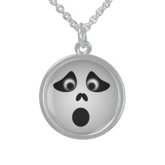 HALLOWEEN GHOST STERLING SILVER NECKLACE