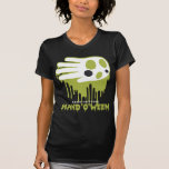 Hand shaped Halloween ghost t-shirt
