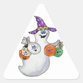 Halloween Ghost Triangle Sticker