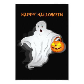 Halloween Ghost with pumpkin Card