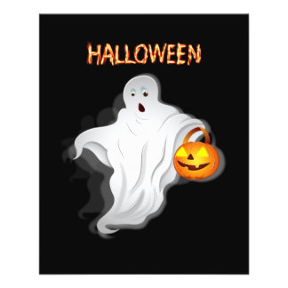 Halloween Ghost with pumpkin Flyer