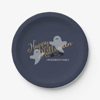 Halloween Ghosties - 7inch party paper plate 7 Inch Paper Plate