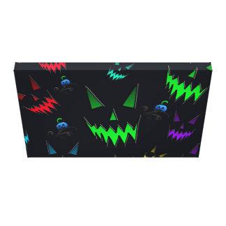 Halloween Ghostly Jack O' Lanterns Canvas Print