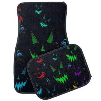 Halloween Ghostly Jack O' Lanterns Car Floor Mat