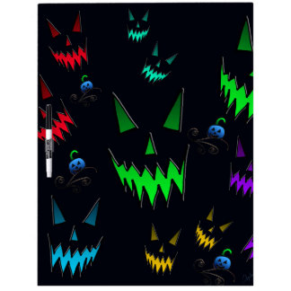 Halloween Ghostly Jack O' Lanterns Dry Erase Board