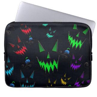 Halloween Ghostly Jack O' Lanterns Laptop Sleeves