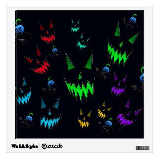 Halloween Ghostly Jack O' Lanterns Wall Sticker
